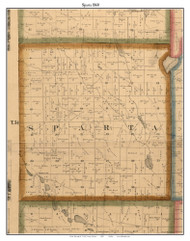 Sparta, Indiana 1860 Old Town Map Custom Print - Noble Co.