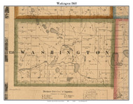 Washington, Indiana 1860 Old Town Map Custom Print - Noble Co.