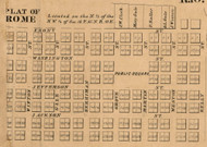 Rome Village, Orange, Indiana 1860 Old Town Map Custom Print - Noble Co.