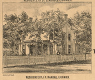 Randall Residence, Ligonier  Village, Perry, Indiana 1860 Old Town Map Custom Print - Noble Co.