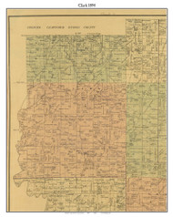 Clark, Indiana 1894 Old Town Map Custom Print - Perry Co.