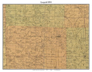 Leopold, Indiana 1894 Old Town Map Custom Print - Perry Co.