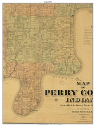 Tobin, Indiana 1894 Old Town Map Custom Print - Perry Co.