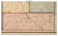 Cloverdale, Indiana 1864 Old Town Map Custom Print - Putnam Co.