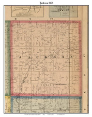 Jackson, Indiana 1864 Old Town Map Custom Print - Putnam Co.