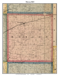 Marion, Indiana 1864 Old Town Map Custom Print - Putnam Co.
