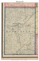 Washington, Indiana 1864 Old Town Map Custom Print - Putnam Co.