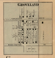 Groveland Village, Floyd, Indiana 1864 Old Town Map Custom Print - Putnam Co.