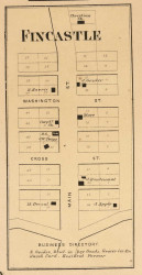 Fincastle Village, Franklin, Indiana 1864 Old Town Map Custom Print - Putnam Co.