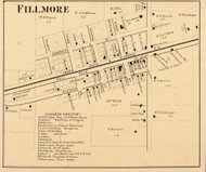 Fillmore Village, Marion, Indiana 1864 Old Town Map Custom Print - Putnam Co.