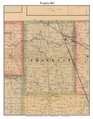 Franklin, Indiana 1865 Old Town Map Custom Print - Randolph Co.