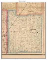 Green Fork, Indiana 1865 Old Town Map Custom Print - Randolph Co.