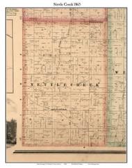 Nettle Creek, Indiana 1865 Old Town Map Custom Print - Randolph Co.