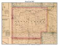 Stony Creek, Indiana 1865 Old Town Map Custom Print - Randolph Co.
