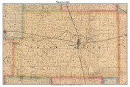 White River, Indiana 1865 Old Town Map Custom Print - Randolph Co.