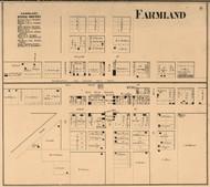 Farmland Village, Monroe, Indiana 1865 Old Town Map Custom Print - Randolph Co.