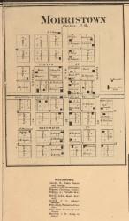 Morristown Village, Monroe, Indiana 1865 Old Town Map Custom Print - Randolph Co.