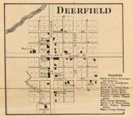 Deerfield Village, Ward, Indiana 1865 Old Town Map Custom Print - Randolph Co.