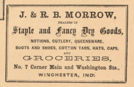 Dry Goods, Groceries Advertisement, Winchester, White River, Indiana 1865 Old Town Map Custom Print - Randolph Co.