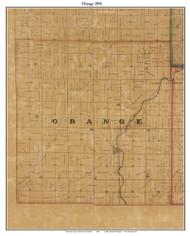 Orange, Indiana 1856 Old Town Map Custom Print  Rush Co.