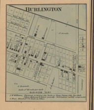 Burlington Village, Posey, Indiana 1867 Old Town Map Custom Print  Rush Co.