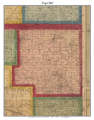 Fugit, Indiana 1867 Old Town Map Custom Print  Decatur Co.