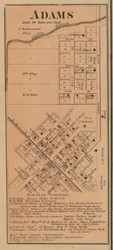 Adams Village, Adams, Indiana 1867 Old Town Map Custom Print  Decatur Co.