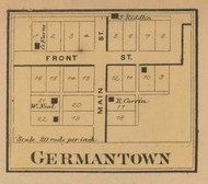 Gemantown Village, Adams, Indiana 1867 Old Town Map Custom Print  Decatur Co.