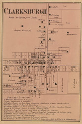 Clarksburgh Village, Fugit, Indiana 1867 Old Town Map Custom Print  Decatur Co.