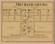 Mechanicsburg Village, Salt Creek, Indiana 1867 Old Town Map Custom Print  Decatur Co.