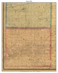 Jackson, Indiana 1866 Old Town Map Custom Print  Tippecanoe Co.
