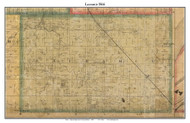 Lauramie, Indiana 1866 Old Town Map Custom Print  Tippecanoe Co.