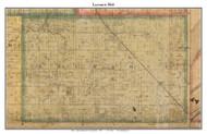 Lauramie, Indiana 1866 Old Town Map Custom Print  Tippecanoe Co.