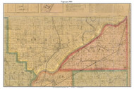 Tippecanoe, Indiana 1866 Old Town Map Custom Print  Tippecanoe Co.