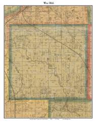 Wea, Indiana 1866 Old Town Map Custom Print  Tippecanoe Co.