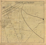 Elston Village & Vicinity, Fairfield, Indiana 1866 Old Town Map Custom Print  Tippecanoe Co.