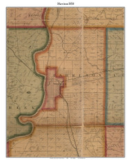 Harrison, Indiana 1858 Old Town Map Custom Print  Vigo Co.