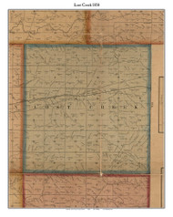 Lost Creek, Indiana 1858 Old Town Map Custom Print  Vigo Co.