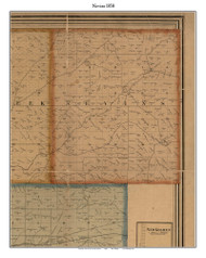 Nevins, Indiana 1858 Old Town Map Custom Print  Vigo Co.