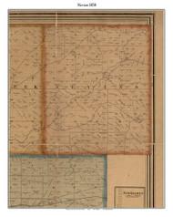 Nevins, Indiana 1858 Old Town Map Custom Print  Vigo Co.
