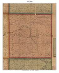 Riley, Indiana 1858 Old Town Map Custom Print  Vigo Co.