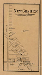 New Goshen Village, Fayette, Indiana 1858 Old Town Map Custom Print  Vigo Co.