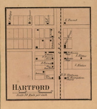 Hartford Village, Linton, Indiana 1858 Old Town Map Custom Print  Vigo Co.