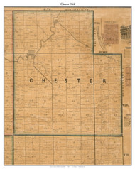 Chester, Indiana 1861 Old Town Map Custom Print  Wabash Co.