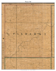 Pleasant, Indiana 1861 Old Town Map Custom Print  Wabash Co.