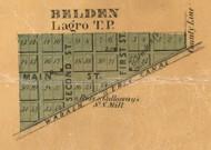 Belden Village, Largo, Indiana 1861 Old Town Map Custom Print  Wabash Co.