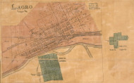 Largo Village, Largo, Indiana 1861 Old Town Map Custom Print  Wabash Co.