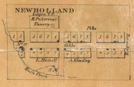 New Holland Village, Largo, Indiana 1861 Old Town Map Custom Print  Wabash Co.