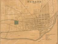 Wabash Village, Noble, Indiana 1861 Old Town Map Custom Print  Wabash Co.