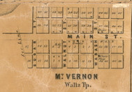 Mt. Vernon Village, Waltz, Indiana 1861 Old Town Map Custom Print  Wabash Co.